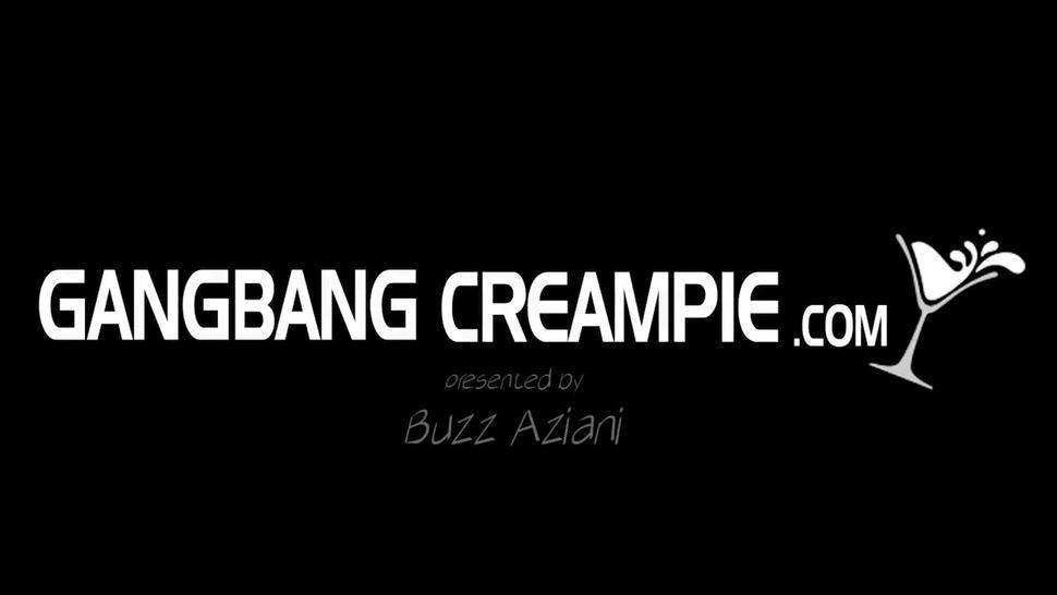 Gangbang Creampie tattooed muscle girl 5 creampies