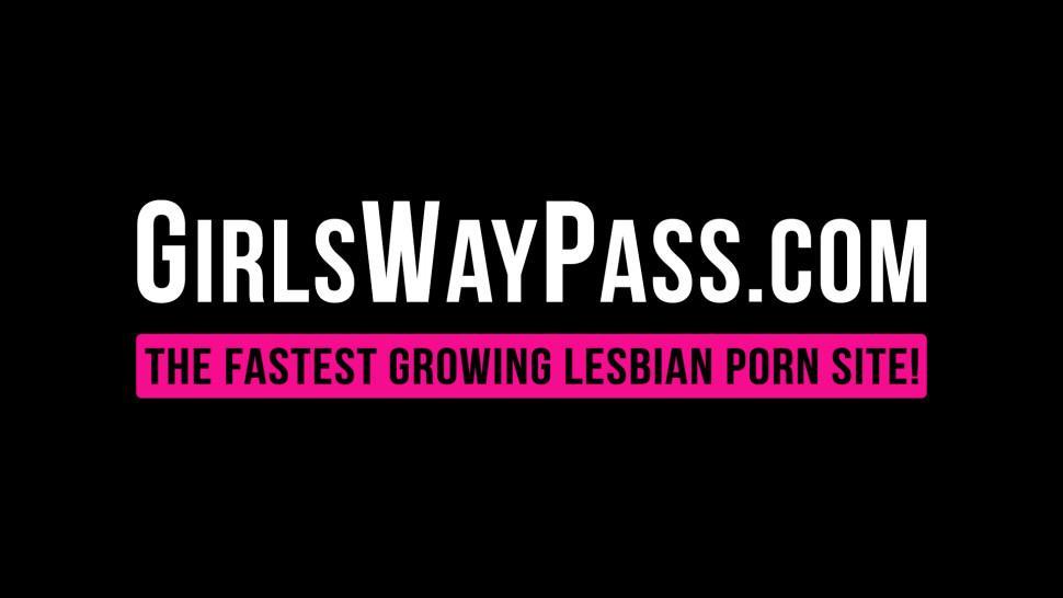 GIRLSWAY PASS - Ebony lesbian Kira Noir face sitting her babe Tiffany Watson