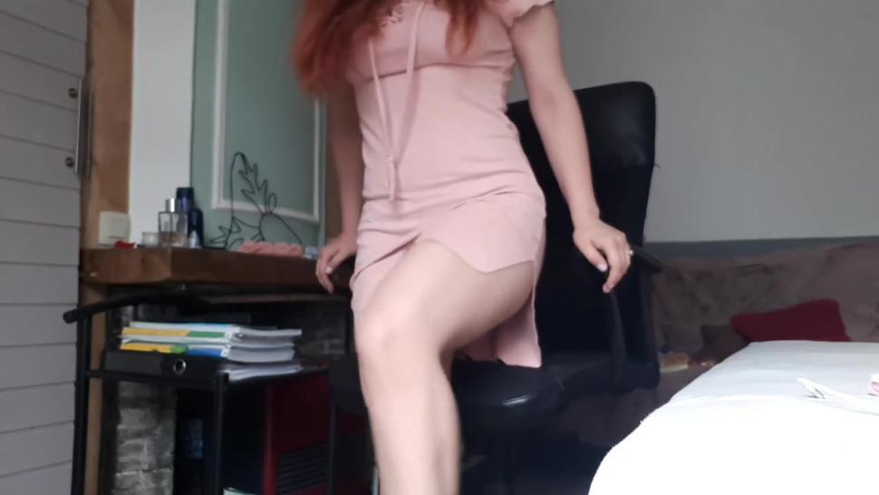 Upskirt panties and legs tease