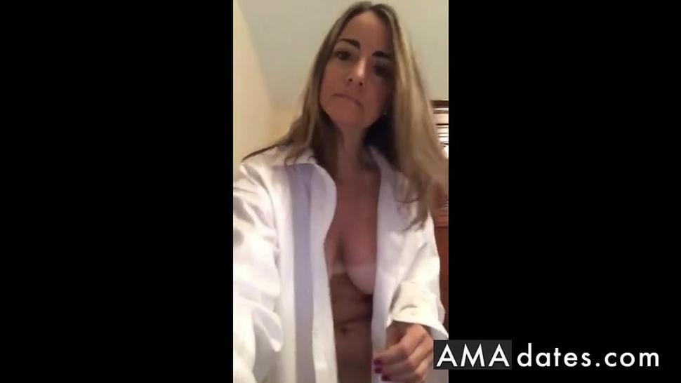 Milf Tan lines stripping masturbation