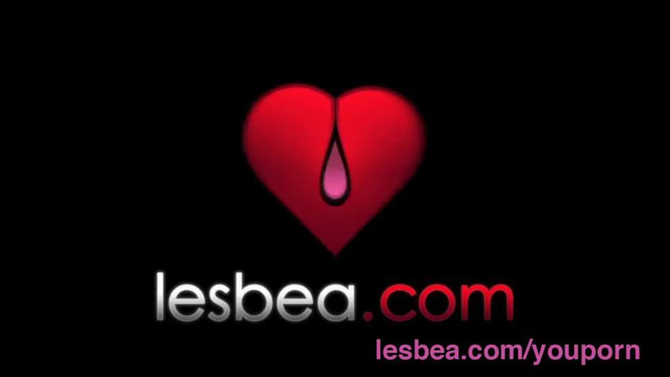Lesbea Amateur lesbian trembles as her pussy is too sensitive for orgasm