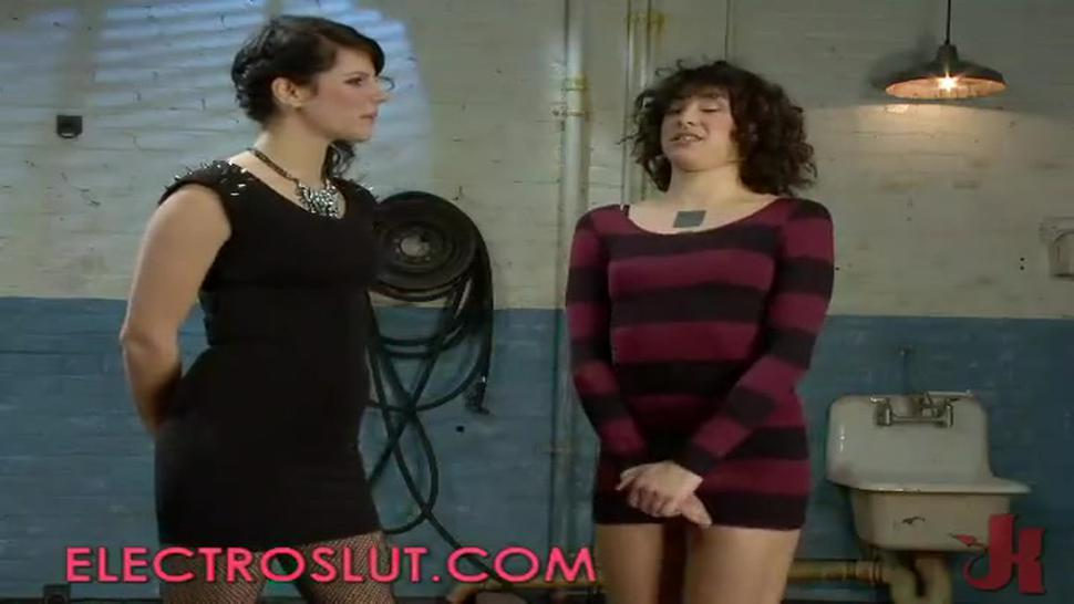 Hairy pussy girl shaved and wired