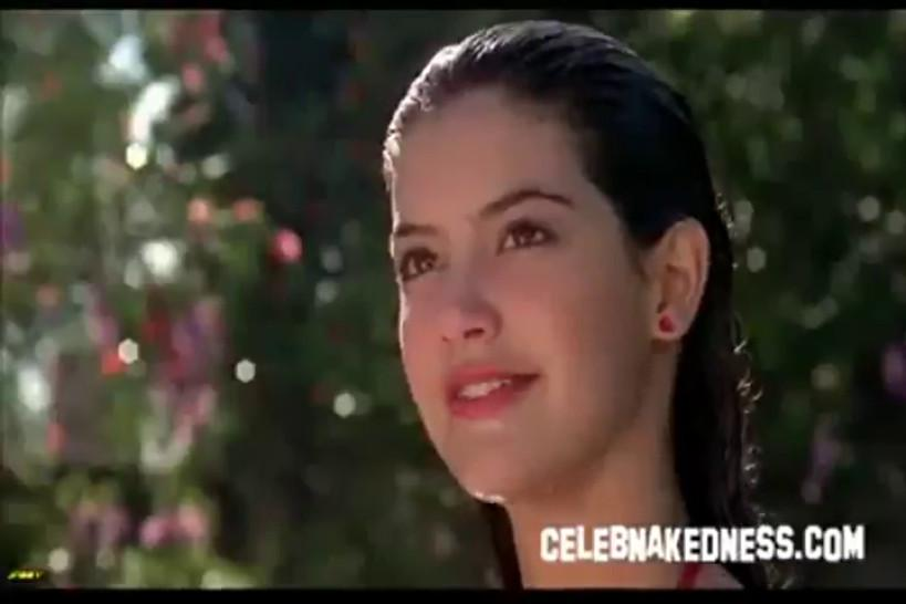 Celeb phoebe cates nude coming out of a pool in bikini - video 1