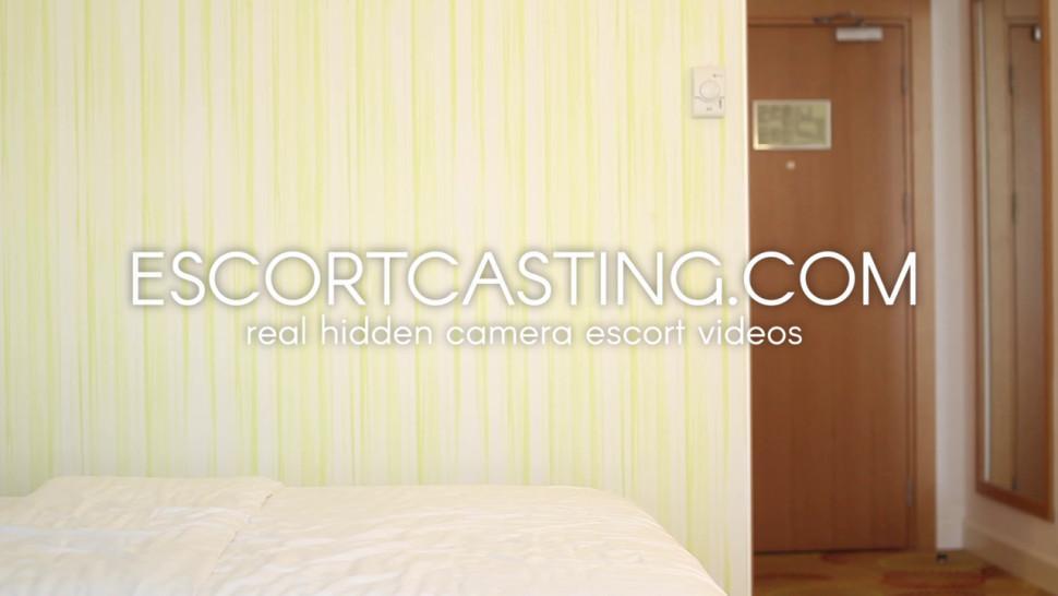 ESCORT CASTING - Hidden Cam Casting of Milf Escort In Hotel With Client