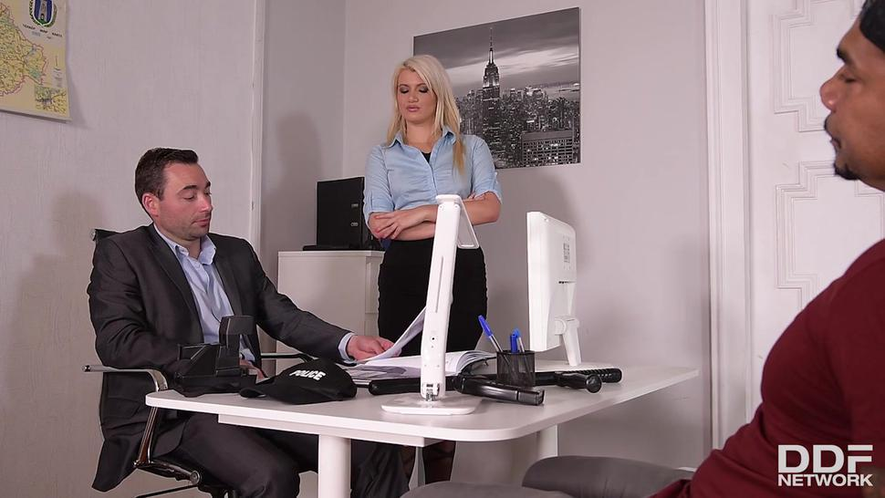 Office Slut Filled With Two Cocks - Laela Pryce