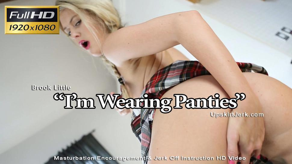 Brook Little, wearing panties