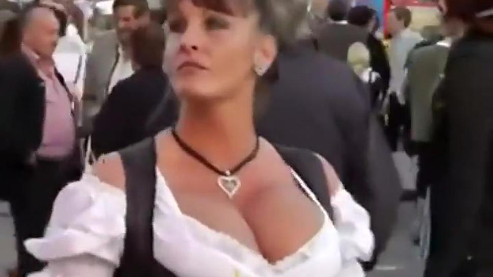 German tits on the october fest