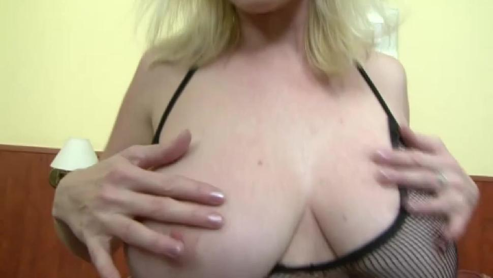 Busty blonde MILF in love with big black cock