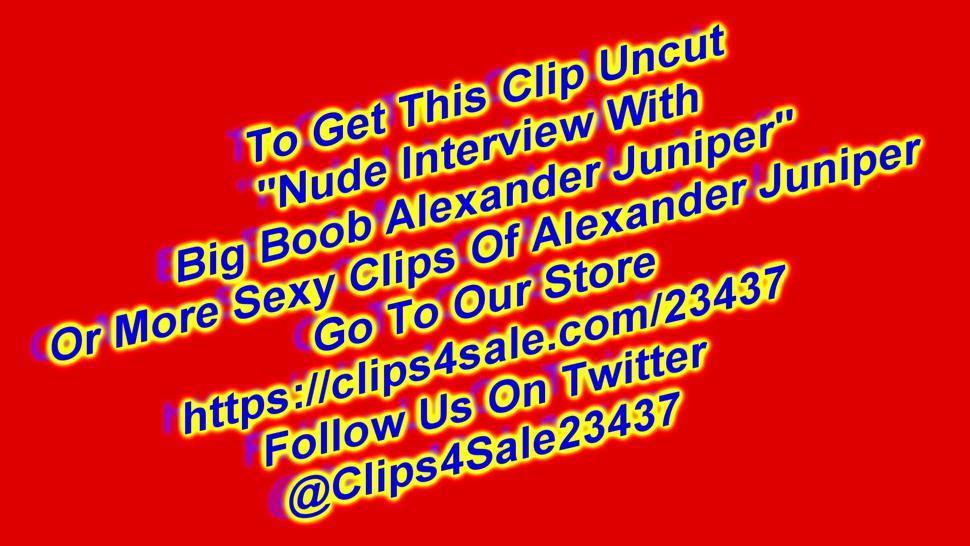Nude Interview With Handjob With Big Boob Alexandra Juniper