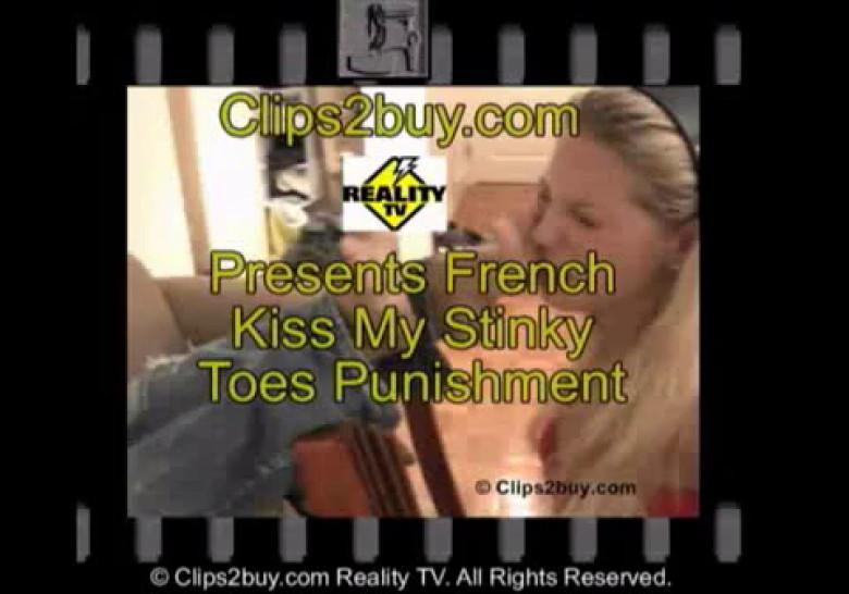 French Kiss my stinky toes as punishment