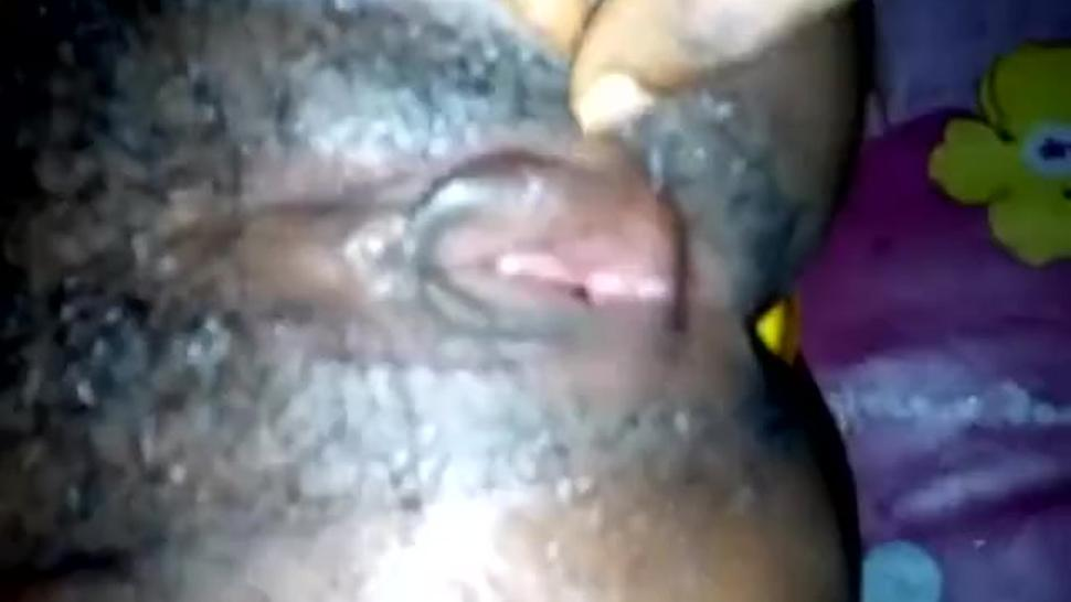 Big cock inside my wife's open mouth pussy