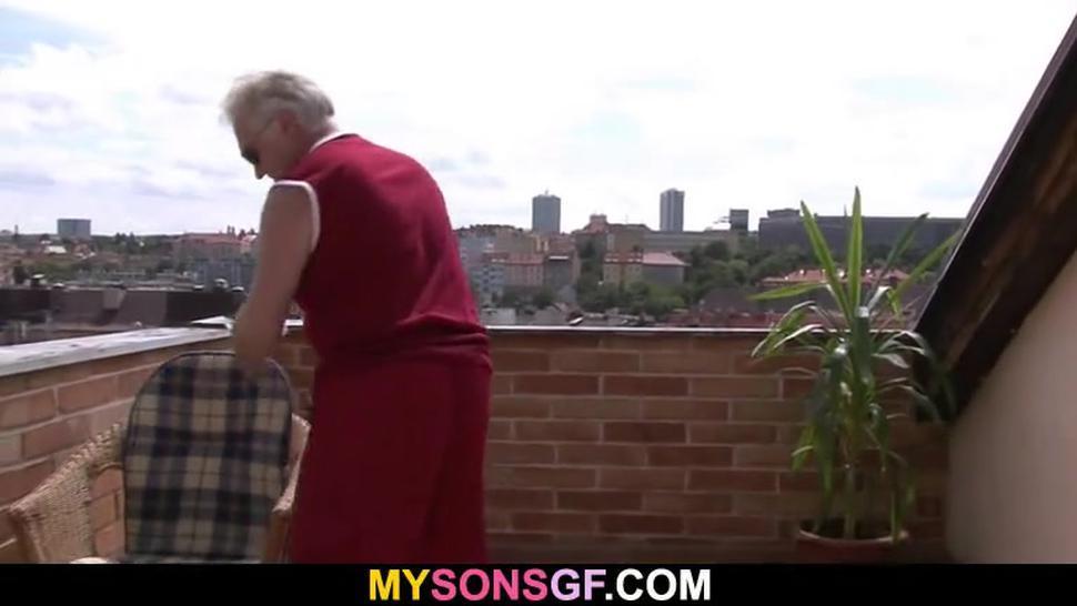 Horny Old Man Seduces His Son'S Girlfriend