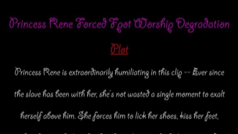 Princess Rene Clean My Shoes Bitch Slave Loser Boy