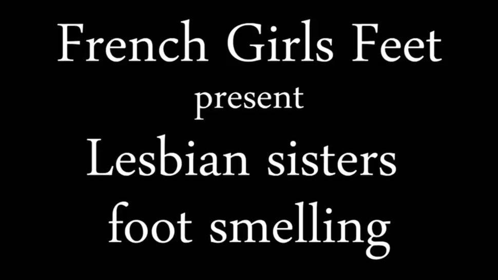 Sisters Smelling Each Other's Feet