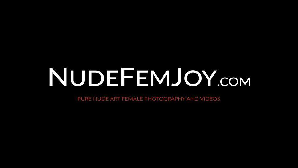 NUDE FEMJOY - Seductive goddess Caprice teasing her tight pink pussy