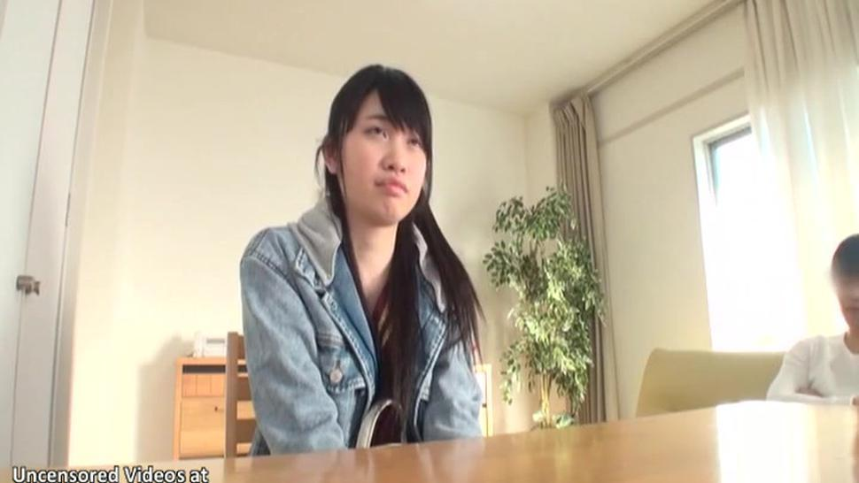 Japanese 18yo Schoolgirl Gives Her First Blowjob