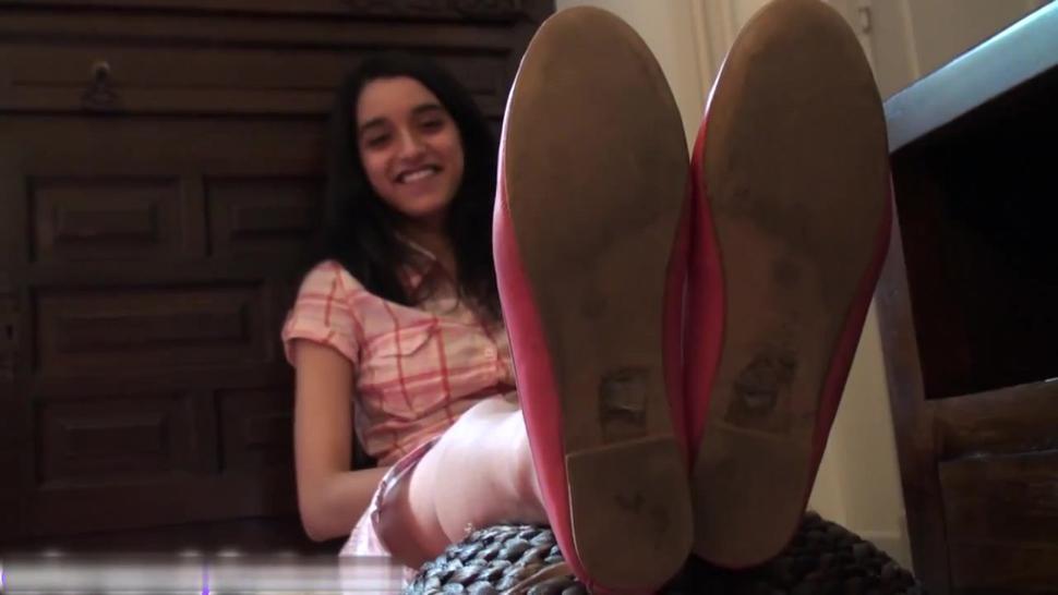 cute teen feet
