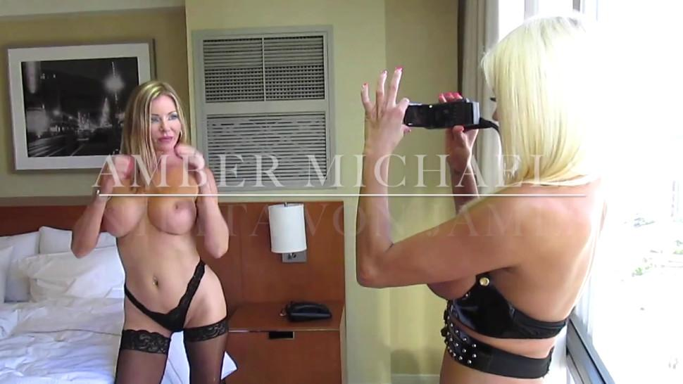 Amber Michaels and Nikita von James Photo Shoot to Hot Sex. - video 1