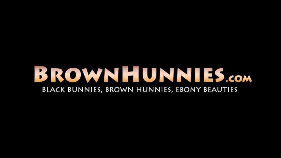 BROWN HUNNIES - Ebony amateur Secret takes throbbing cock for wild raw ride