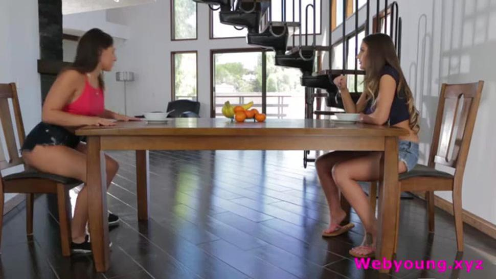 Filthy August Ames And Abella Danger Eating Pussy Under The Table