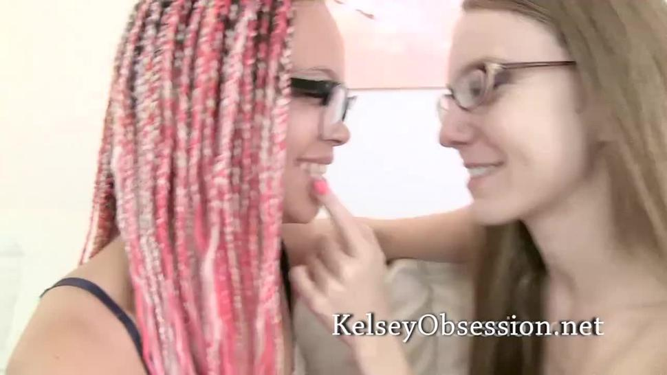 Kissing and Breath Smelling Fetish in Glasses - Ashley Luvbug and Kelsey Obsession