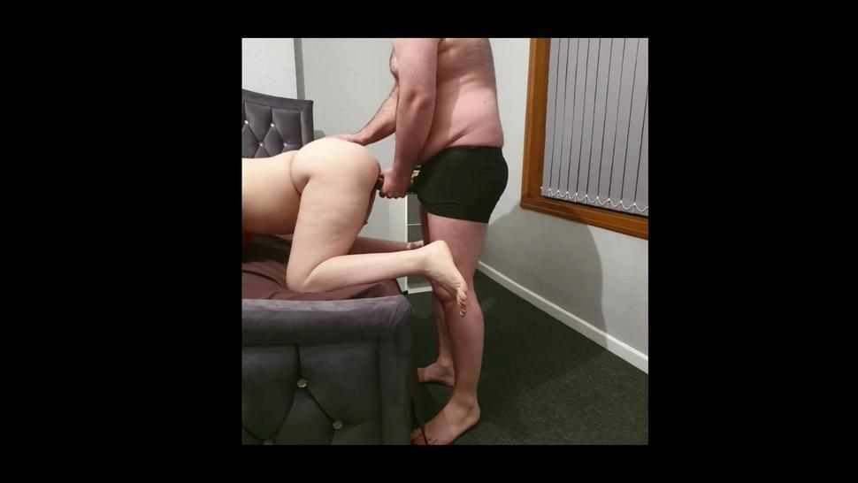 Step mother can't take 12 inch of dick from step son and screams while get fucked