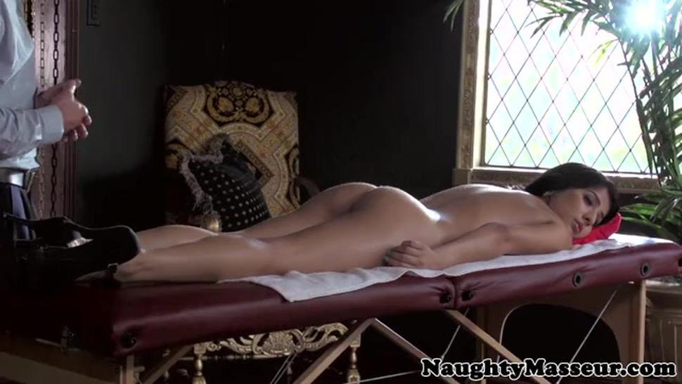 Massage Girl Megan Salinas Pussyfucked