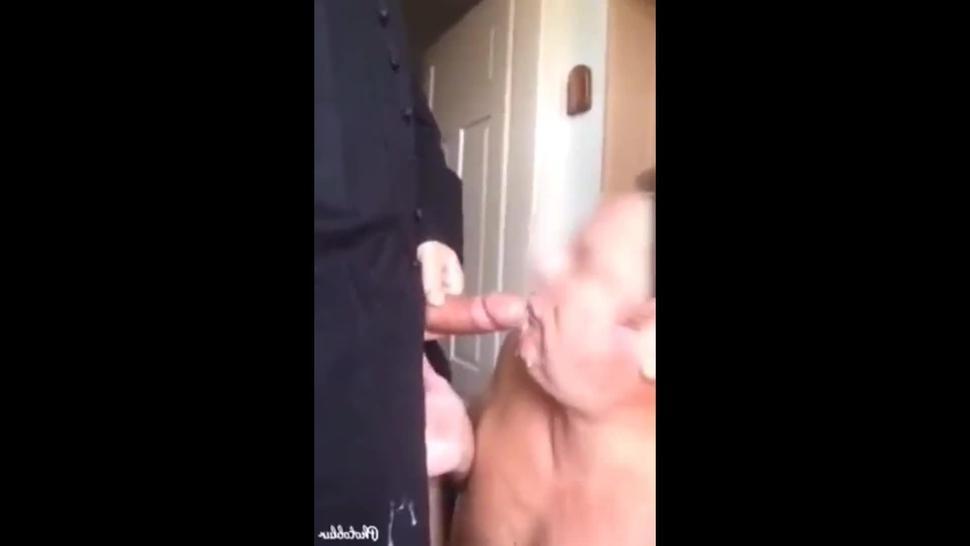 grandpa swallow priest's cum