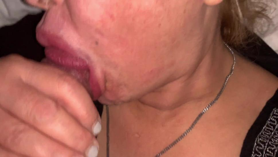Mutual Masturbation ends with lots of precum squirting in stepsis mouth