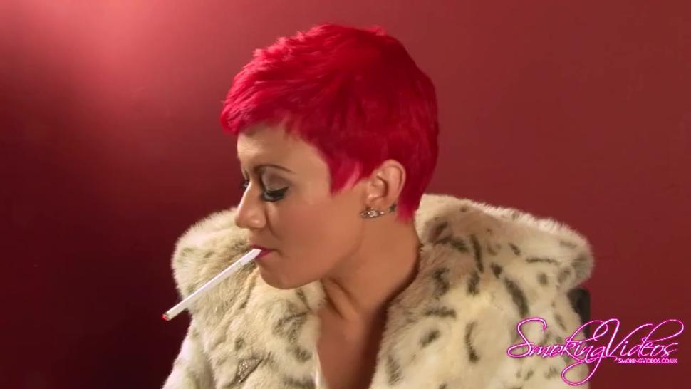 The beautiful Becky Holt smoking & teasing