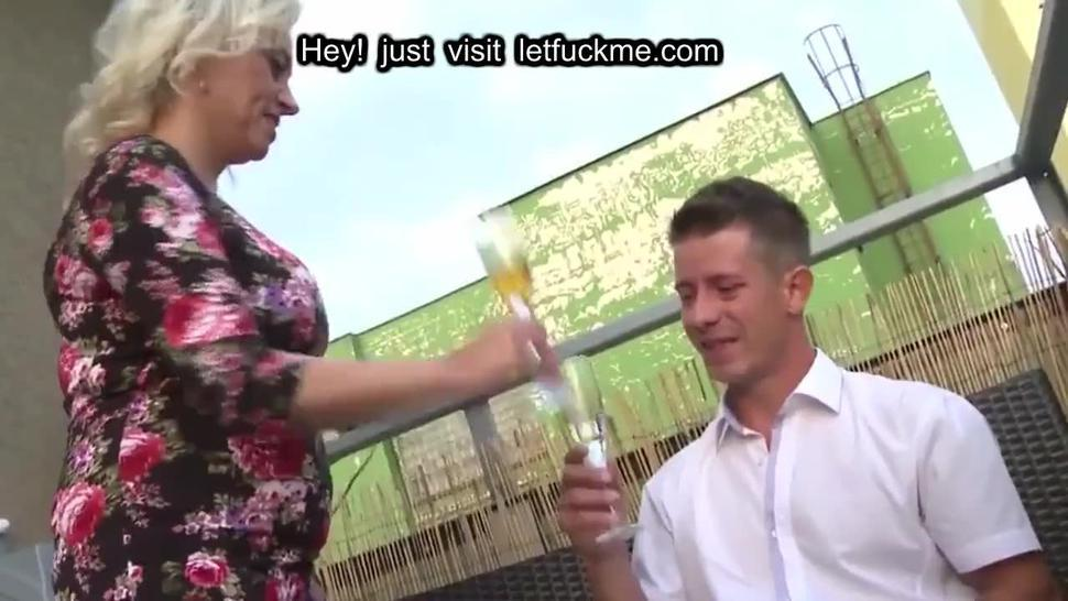 busty mature mother seduces lucky boy