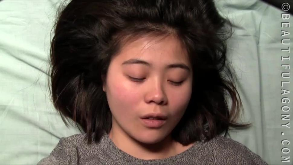 Asian Girl's Massive Orgasm Face With Mouth Wide Open