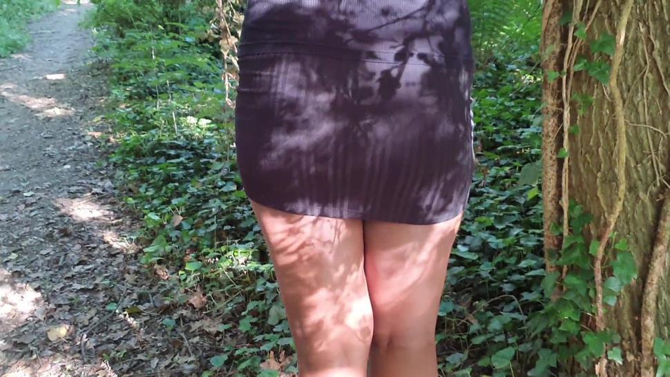Voyeur Ebony Booty Flashing Upskirt in Public Park - Anika Heart
