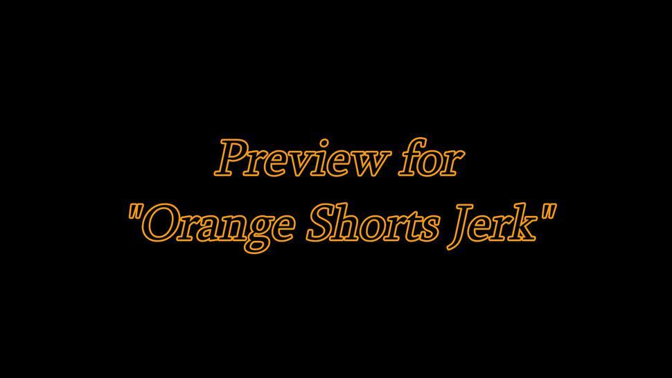 Goddess Rosie Reed Ass Worship Jerk Off Instruction Ebony Booty Orange Shorts Jerk Preview