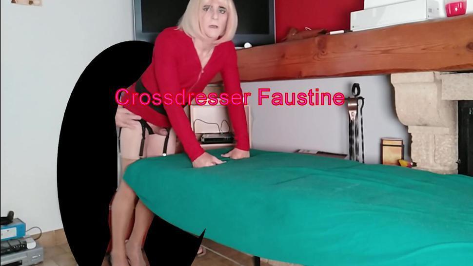 Sissy Crossdresser Faustine Is Asslicked by Unknown Daddy