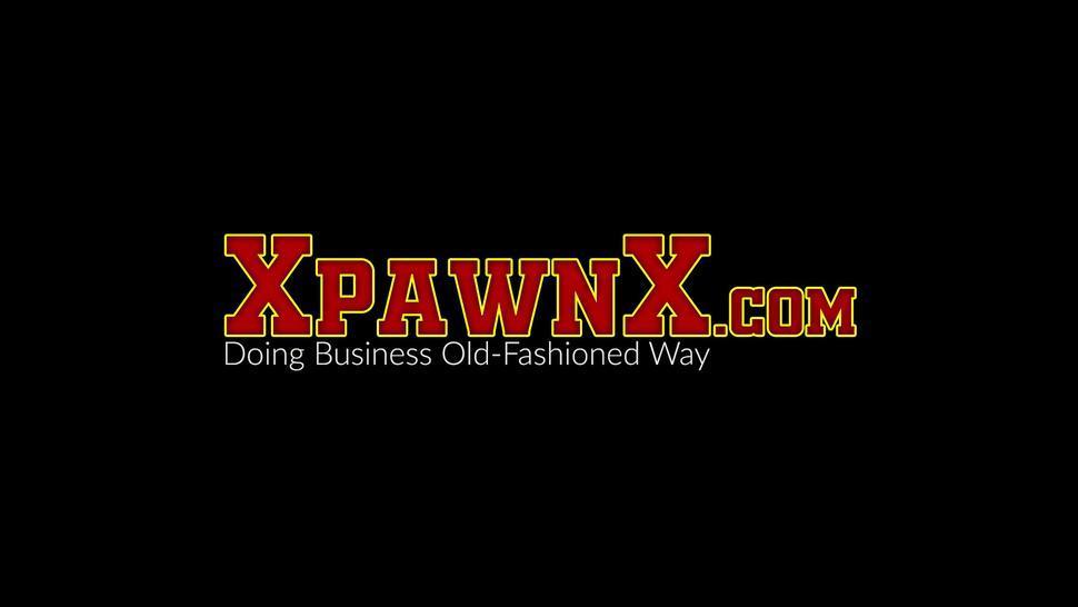 XPAWNX - Ebony babe hidden cam pawnshop fucking after POV deepthroat