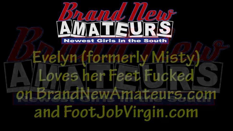 Cutie Gives Footjob For The First Time