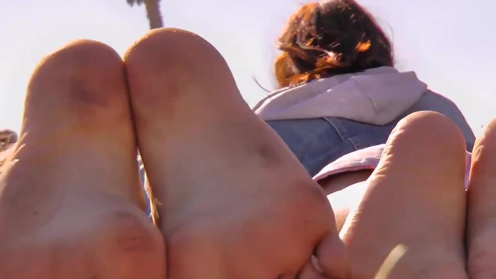 Toe Jam Caked on Feet