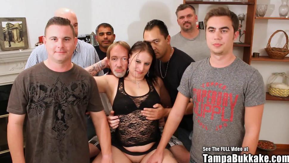 TAMPA BUKKAKE - Anal Bukkake Tattoo Slut Gangbang Fuck Fest