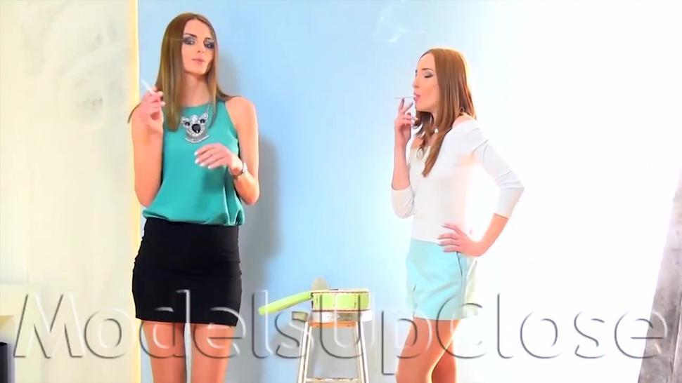 Two Models Smoking