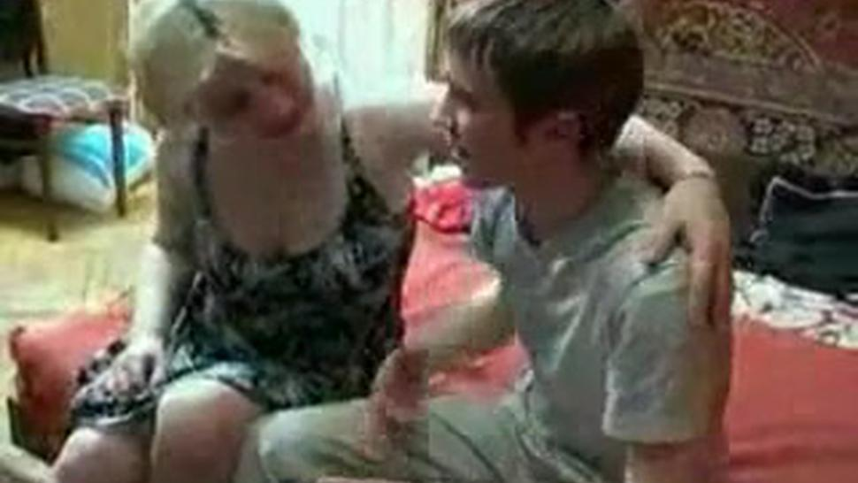Russian Mature Woman Fucked Rough From Young Boy
