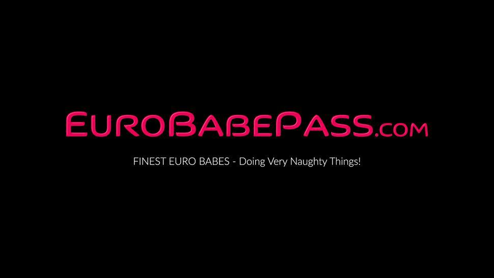 EURO BABE PASS - Euro babes Stefanie Moon and Amaris in lesbian pussy licking