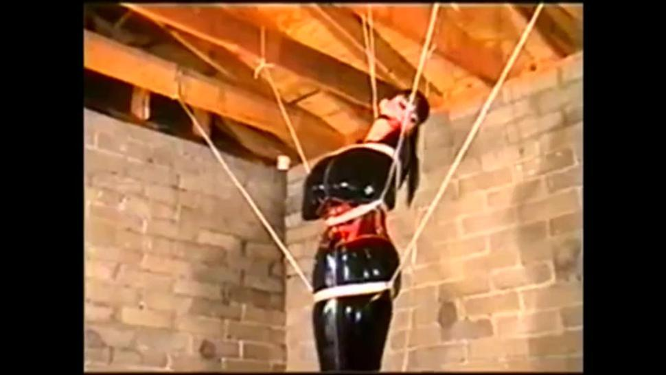 bound and gagged in latex