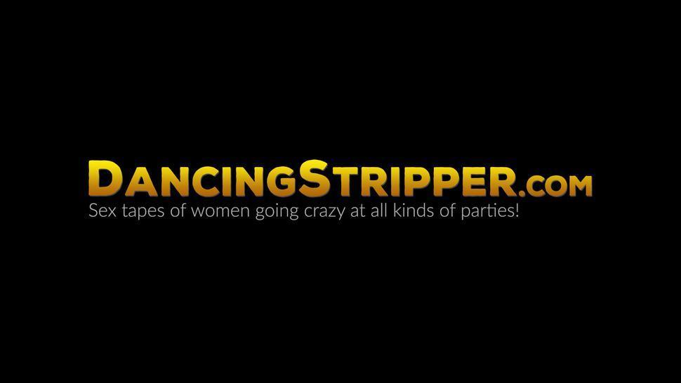 DANCING STRIPPER - Hot party ladies watch BBC stripper pussy drill their friend