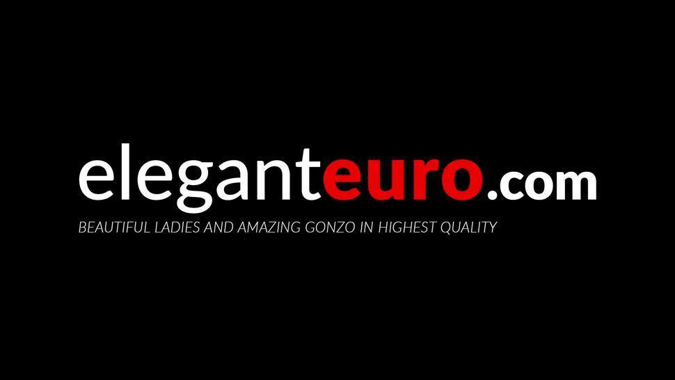 ELEGANT EURO - Seductive lingerie hottie anal stretched hardcore after BJ