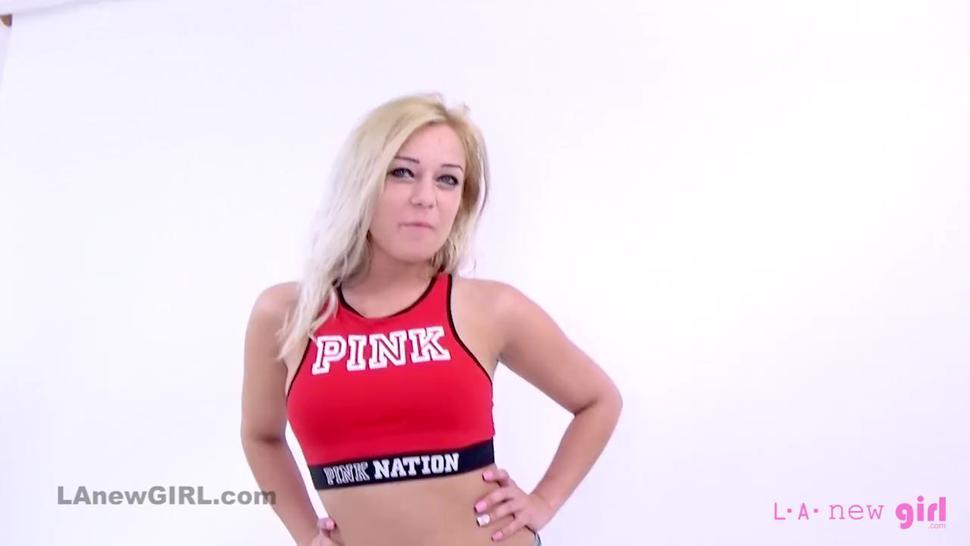 Hot Blonde gets big facial cumshot at casting audition ( POV )