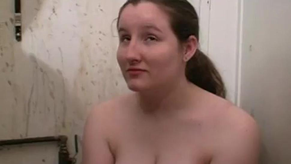 Fat girl pissed on