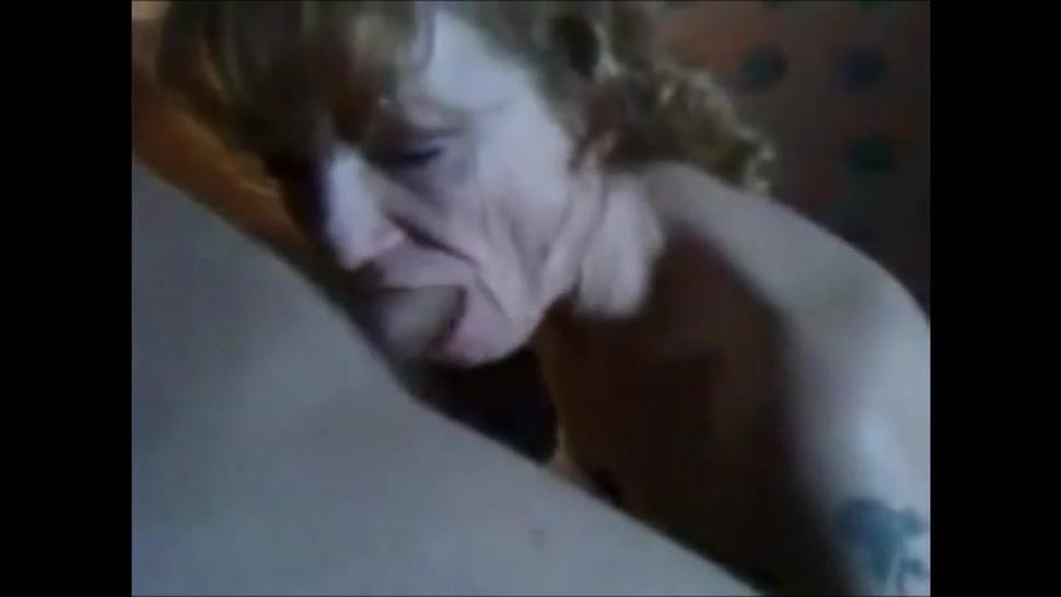 Wrinkled face grandma sucking dick and drink cum
