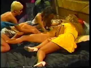 Classic Nina Hartley Lesbian Orgy