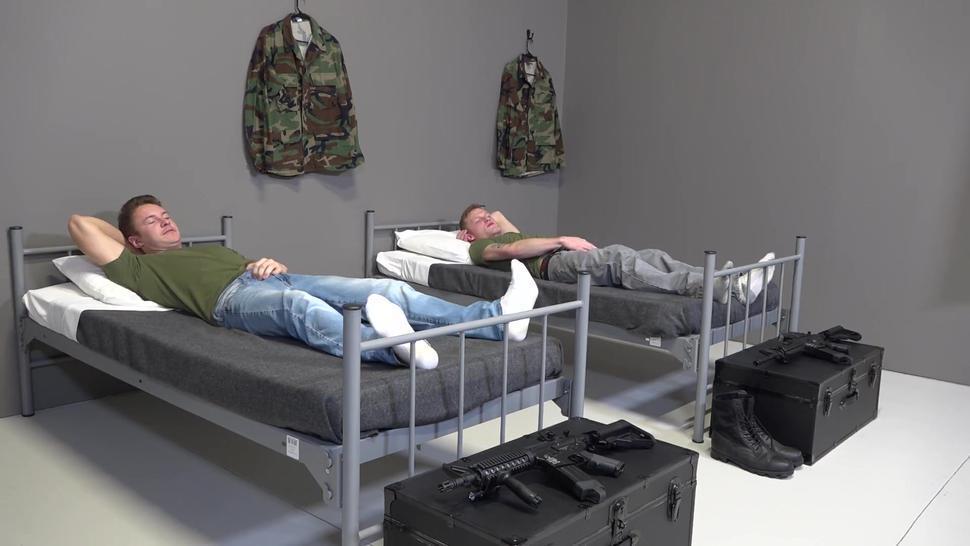 ActiveDuty - Military Boys Up Late Jerking & Fucking